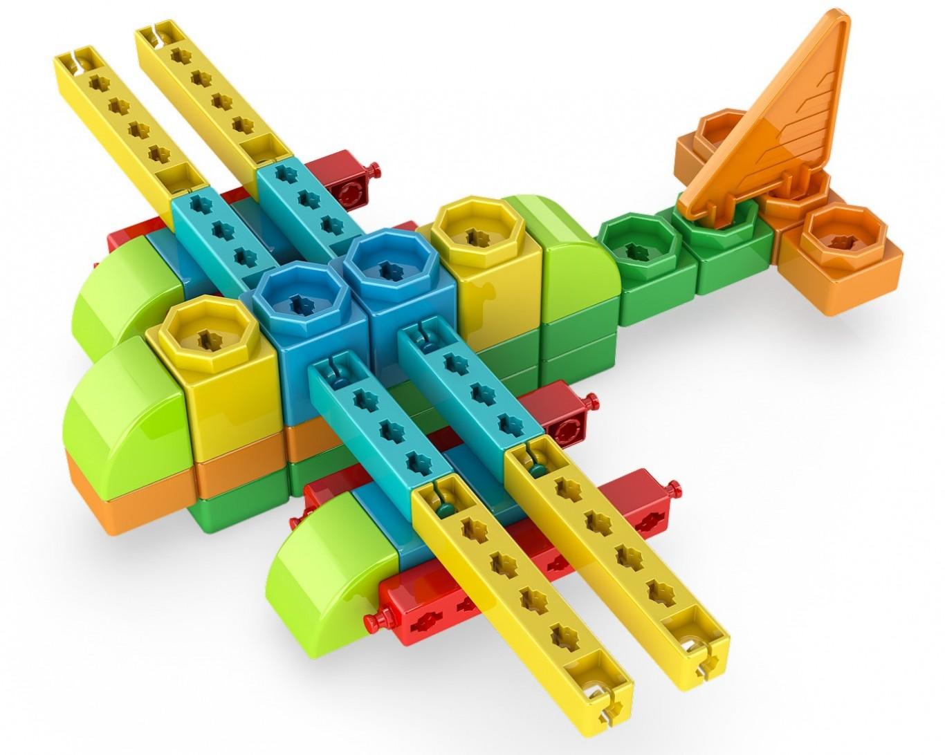 Set de constructie - Qboidz 4in1 - Stunt Plane | Engino - 1