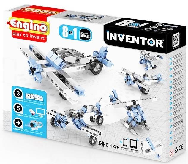 Set de constructie Inventor - 8 modele de aeronave | Engino