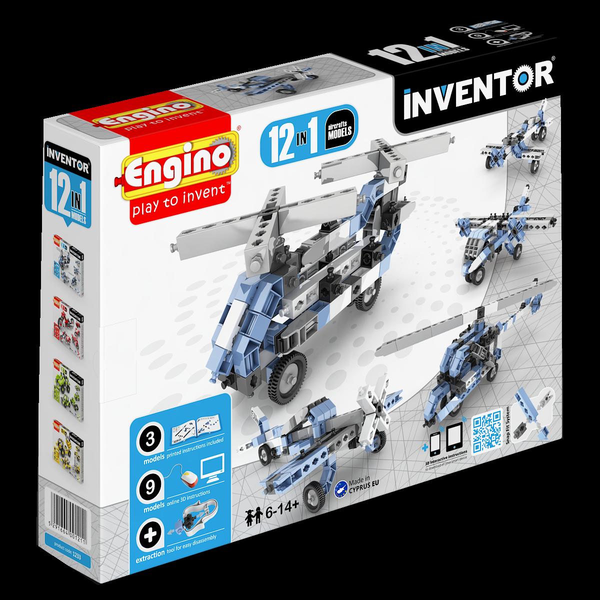 Set de constructie Inventor - 12 modele de aeronave | Engino