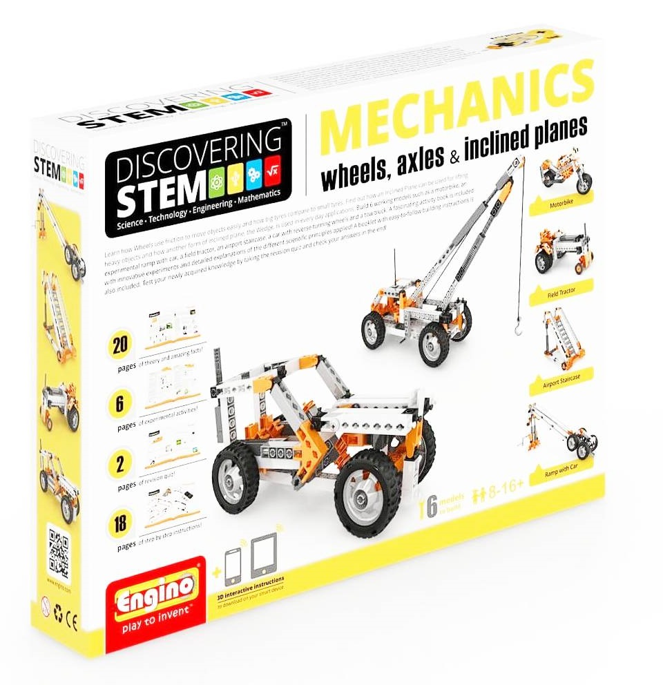 Set de constructie - STEM Wheels, Axles and Inclined Planes | Engino