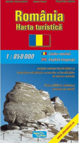 Harta turistica Romania