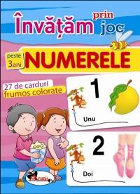 Invatam prin joc numerele pentru + 3 ani. Carti de joc educative