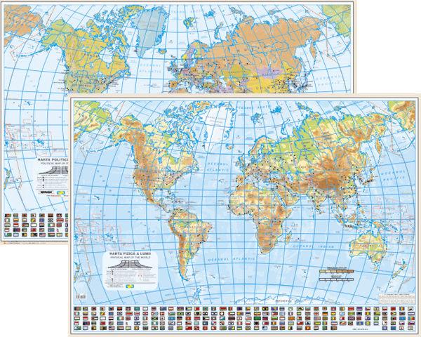 Lumea - Harta Politica/Fizica