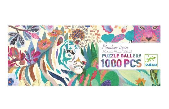Puzzle 1000 piese - Rainbow Tigers | Djeco