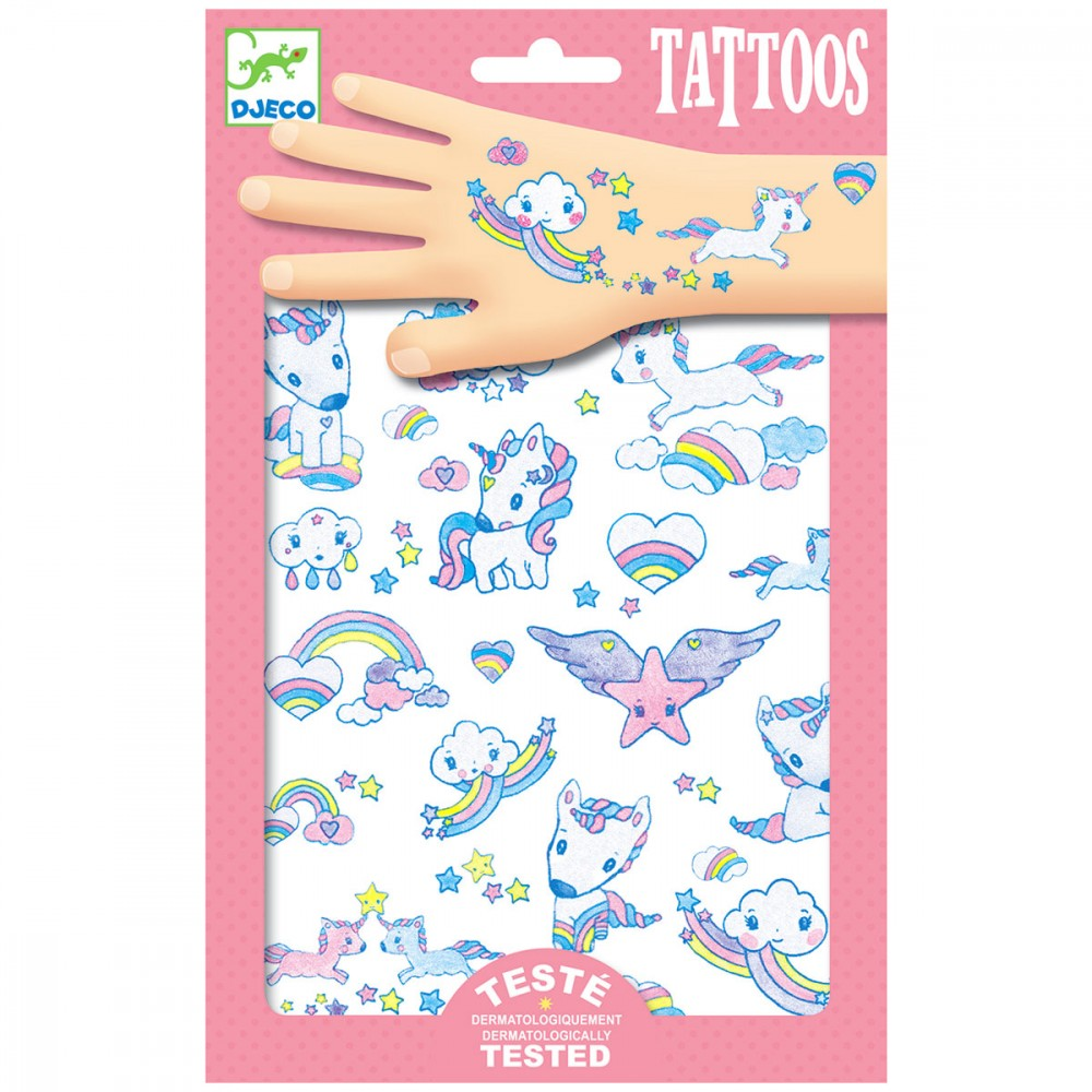 Tatuaje temporare - Unicorns Glitter