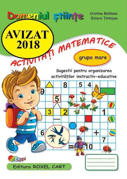 Domeniul stiinte / activitati matematice – grupa mare