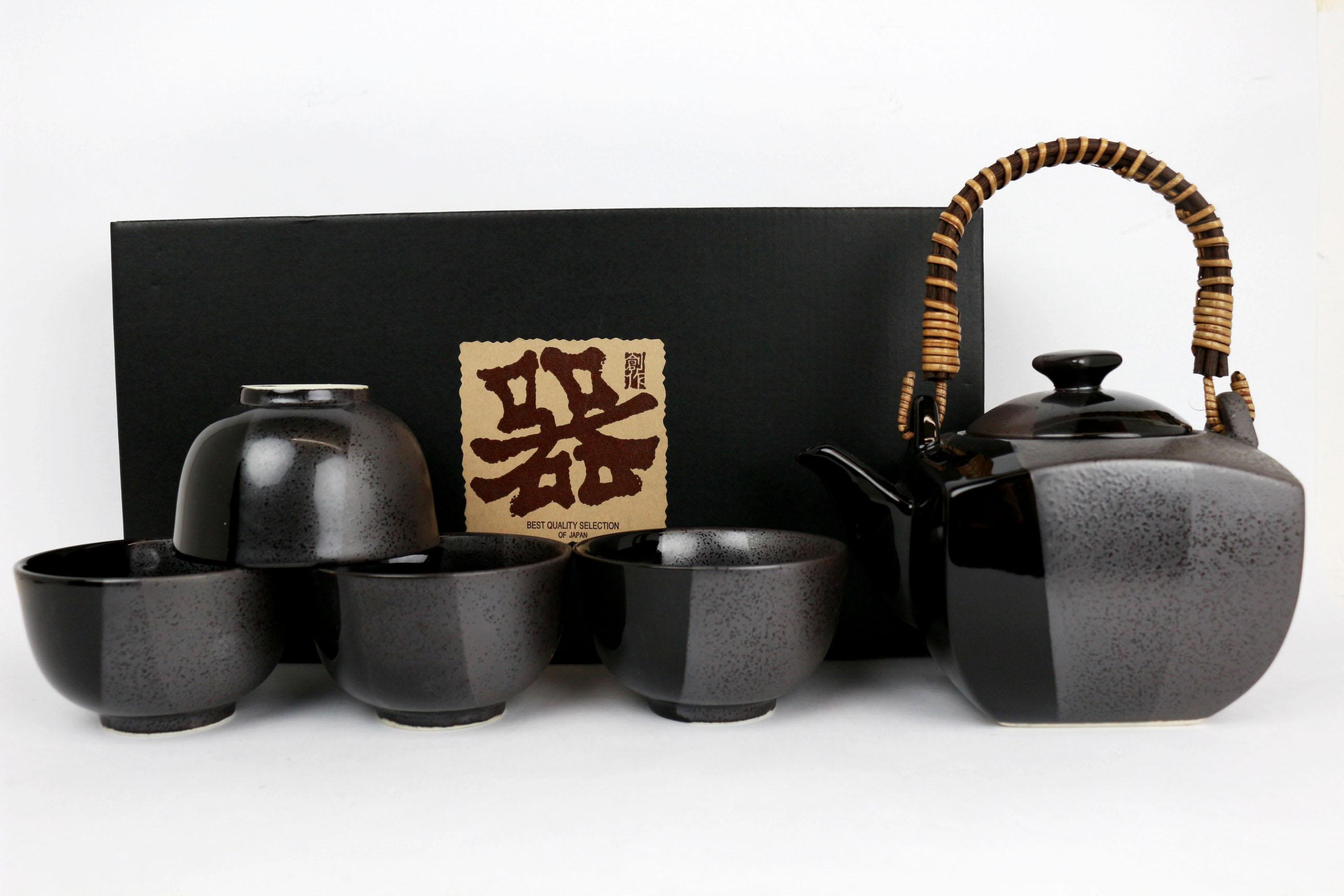 Set ceainic cu 4 cesti pentru ceai