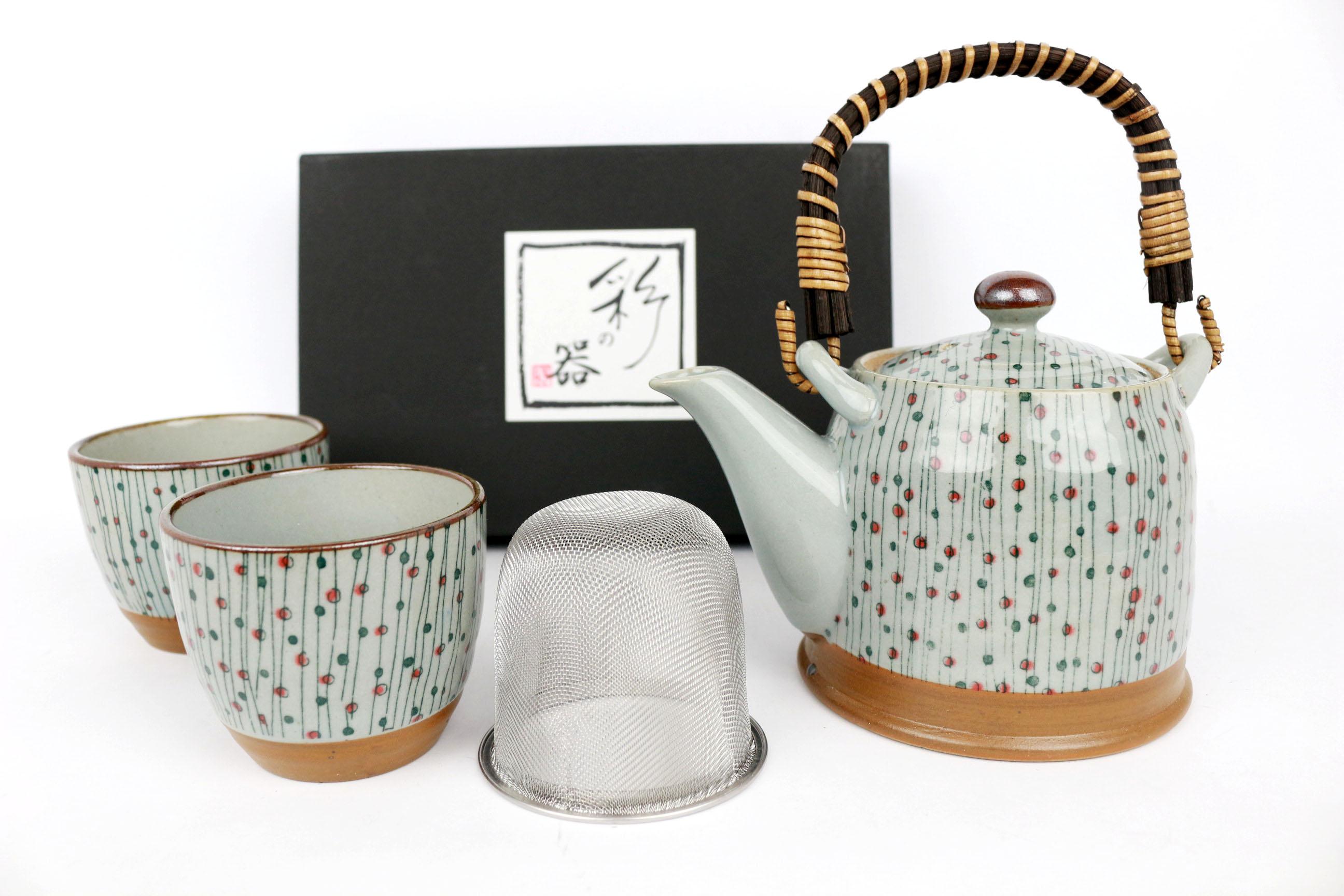 Set ceainic si cesti -Flowers