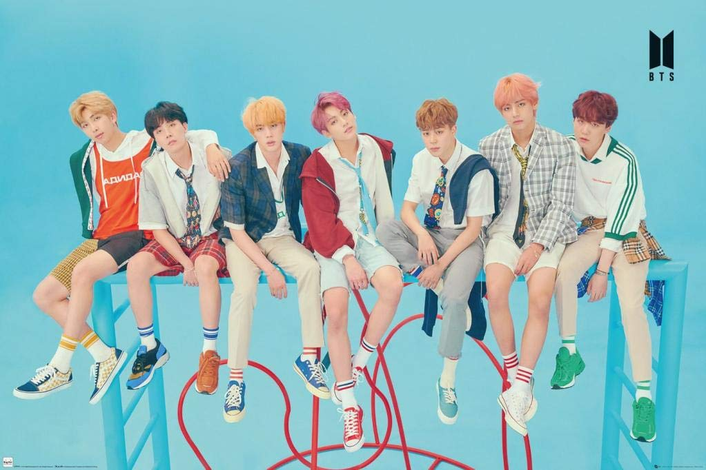 Poster - BTS Group - Blue thumbnail