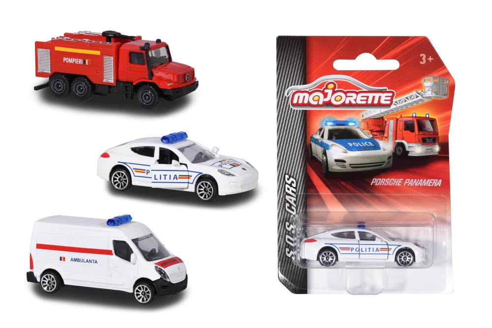 Masinute - Majorette machete metalice S.O.S cars -diverse modele | Majorette