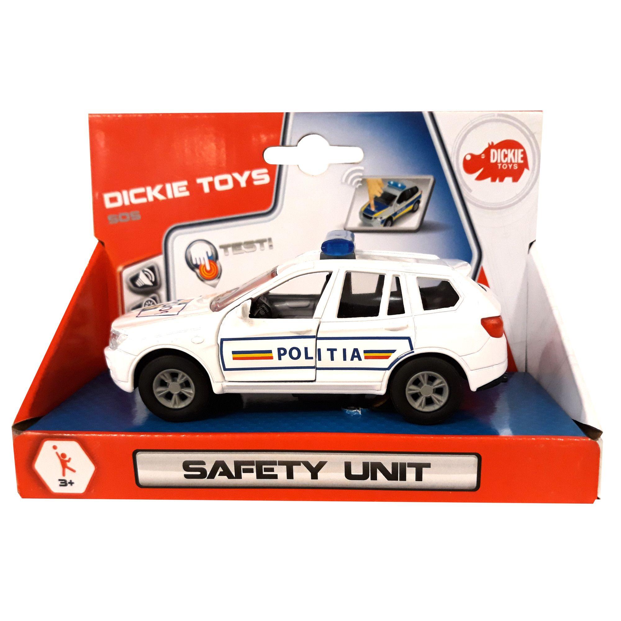 Masinuta- Masina de interventie SOS cu sunete | Dickie Toys