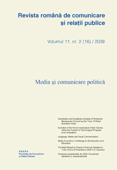 Revista romana de comunicare si relatii publice nr. 16 / 2008