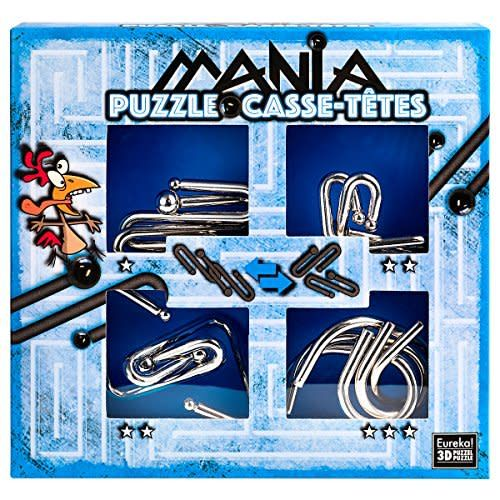 Set de 4 Puzzle-uri 3D - Mania Casse-Tetes - Blue   Eureka