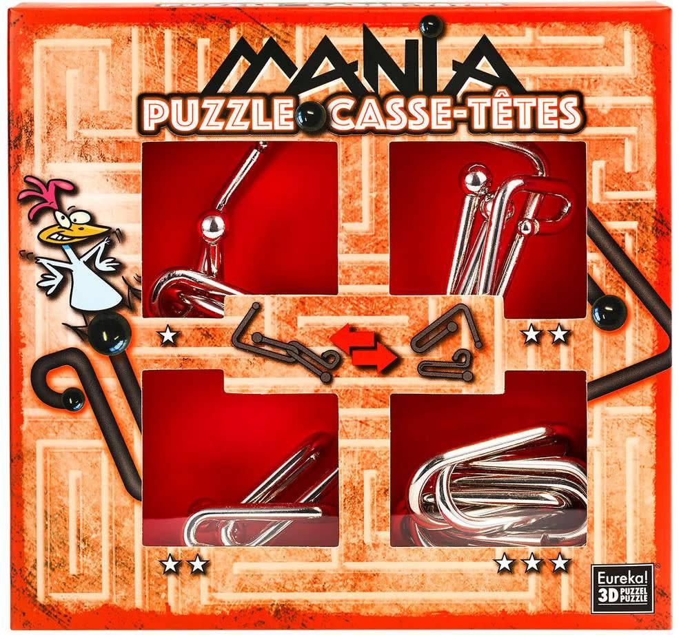 Set de 4 Puzzle-uri 3D - Mania Casse-Tetes - Red   Eureka