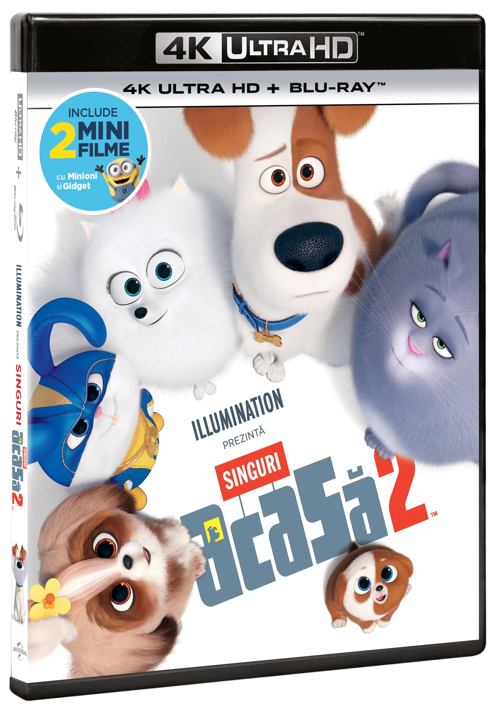 The Secret Life of Pets 2 / Singuri acasa 2 (4K Ultra HD + Blu-Ray Disc)