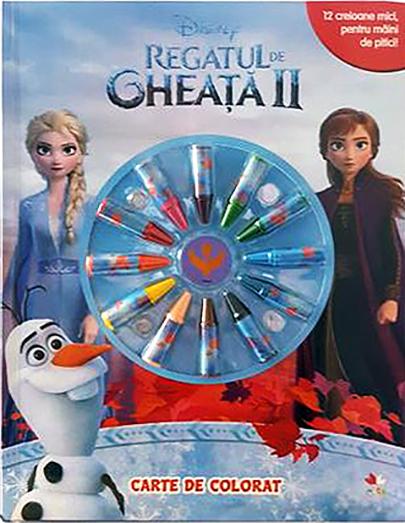 Regatul de gheata II (Frozen II). Carte de colorat cu minicreioane thumbnail