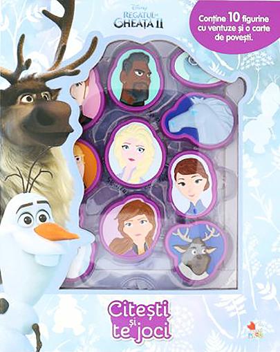 Regatul de gheata II (Frozen II). Citesti si te joci (contine 10 figurine cu ventuza)