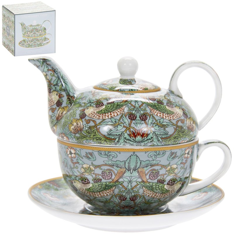 Tea for One - S'berry Thief Teal