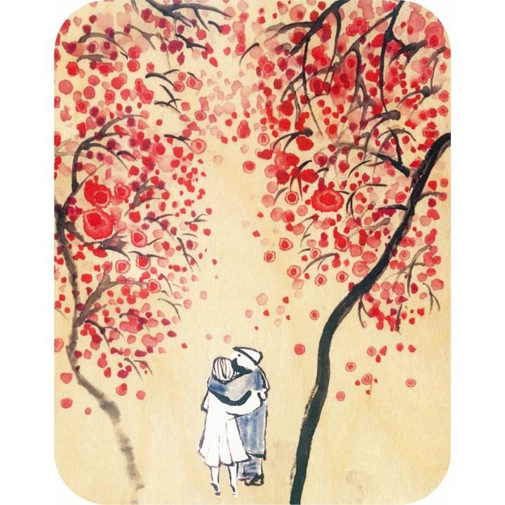 Felicitare din lemn - Wooden - Love Among The Cherry Blossoms thumbnail