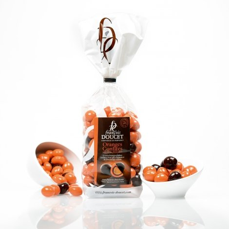 Praline cu coji de portocale confiate invelite in ciocolata - Oranges confites 200g