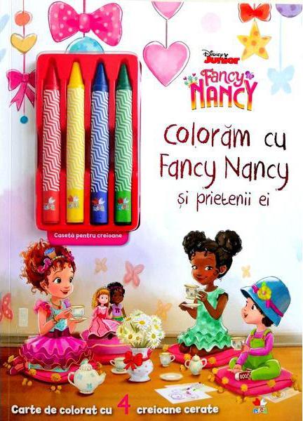 Disney. Fancy Nancy. Coloram cu Fancy Nancy si prietenii ei. Contine 4 creioane cerate thumbnail