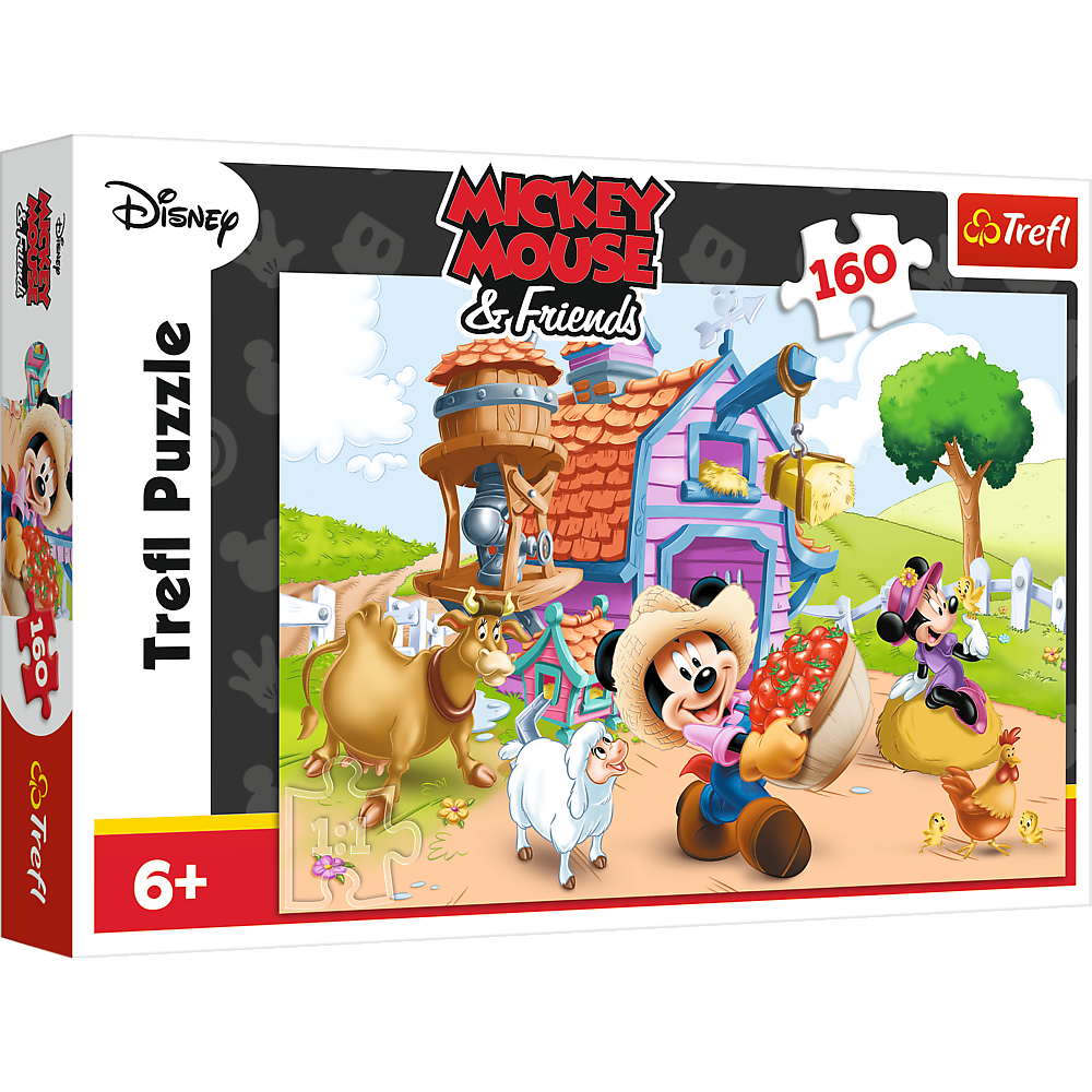 Puzzle 160 piese - Mickey fermierul | Trefl
