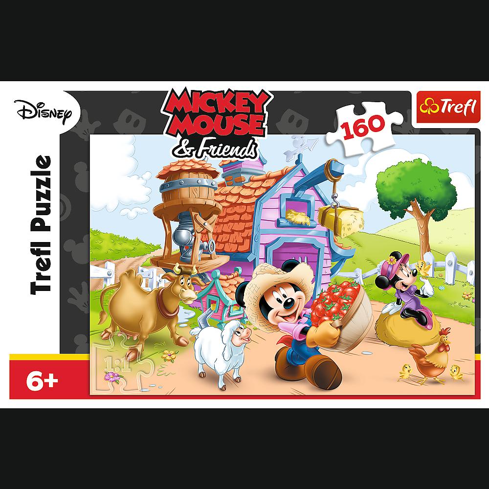 Puzzle 160 piese - Mickey fermierul | Trefl - 1