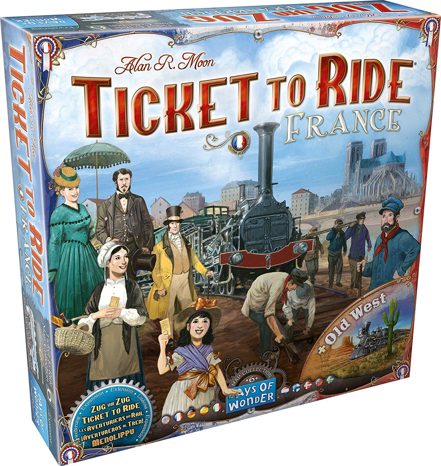 Ticket to Ride: France + Old West Extension | Days of Wonder