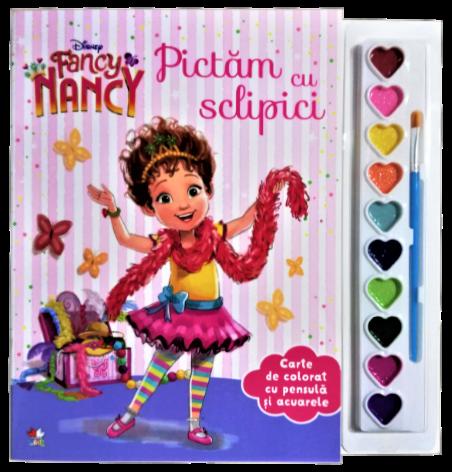 Disney. Fancy Nancy. Pictam Cu Sclipici. Carte De Colorat Cu Pensula Si Acuarele |