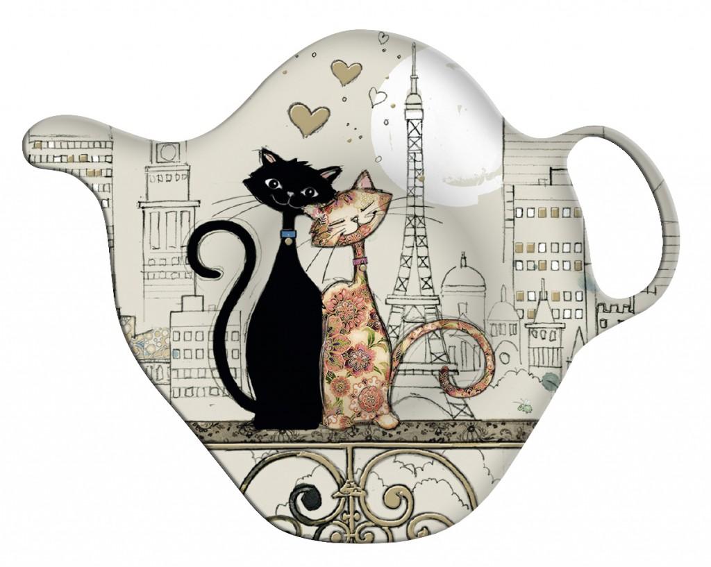 Suport pentru plicul de ceai - Cats in Love thumbnail