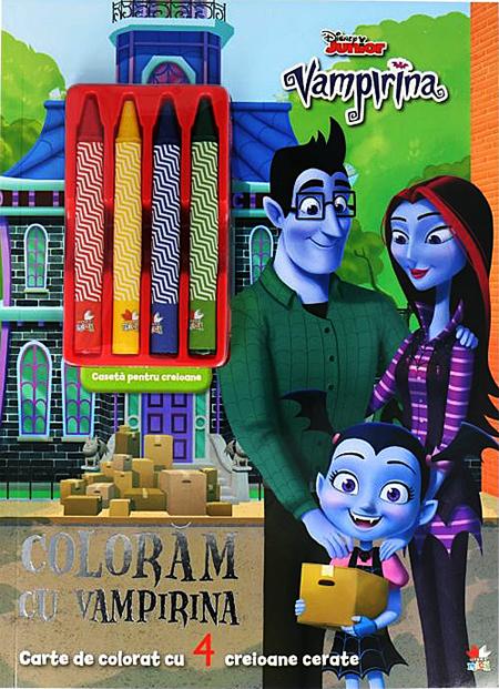 Disney Junior. Vampirina. Coloram cu Vampirina. Conține 4 creioane cerate