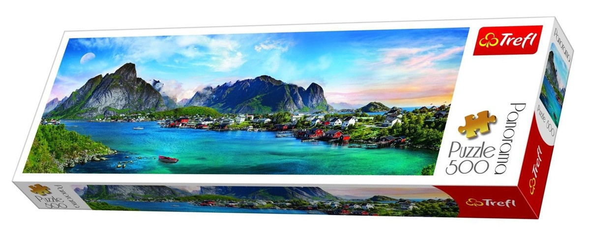 Puzzle - Panorama 500 Norvegian Lofoten | Trefl