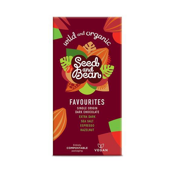 Set cadou 4 tablete de ciocolata Favorites Bio