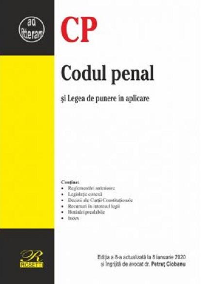 Imagine Codul Penal - Editia A 8-a Actualizata La 8 Ianuarie 2020 - Petrut