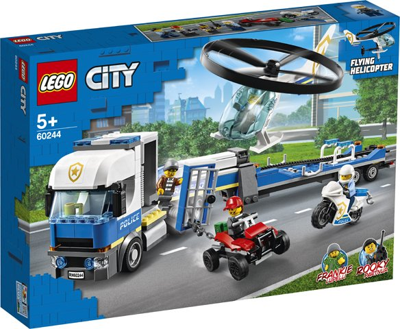 Transportul elicopterului de politie (60244) | LEGO