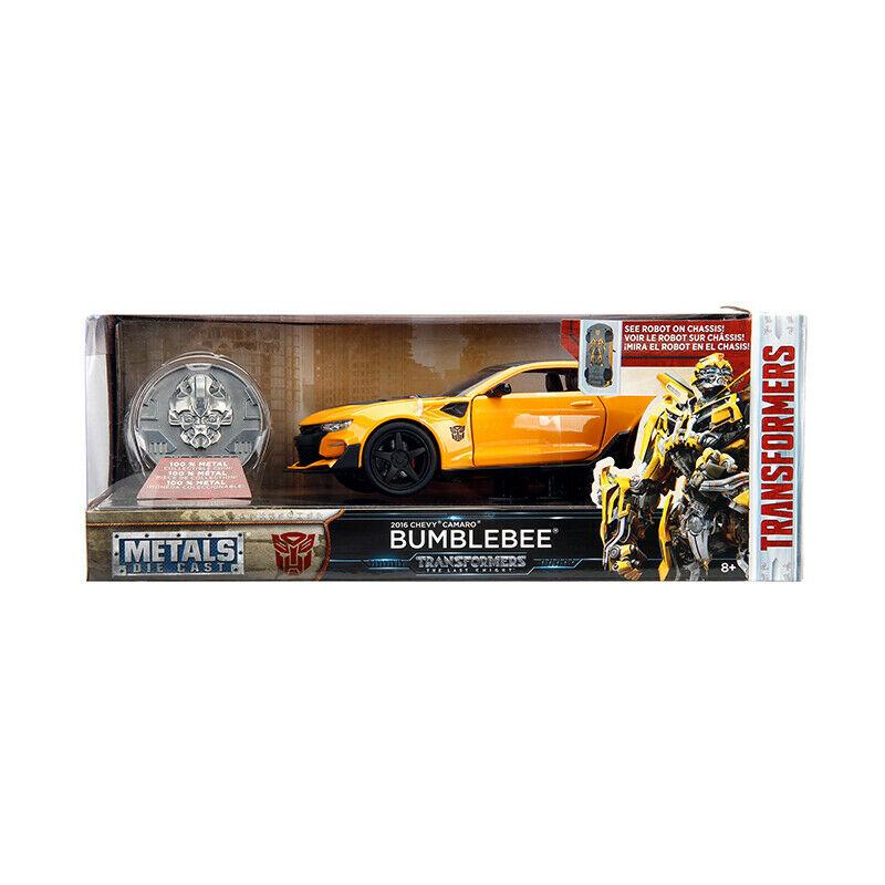 Masinuta - Chevrolet Camaro Bumblebee Yellow   Jada Toys - 2