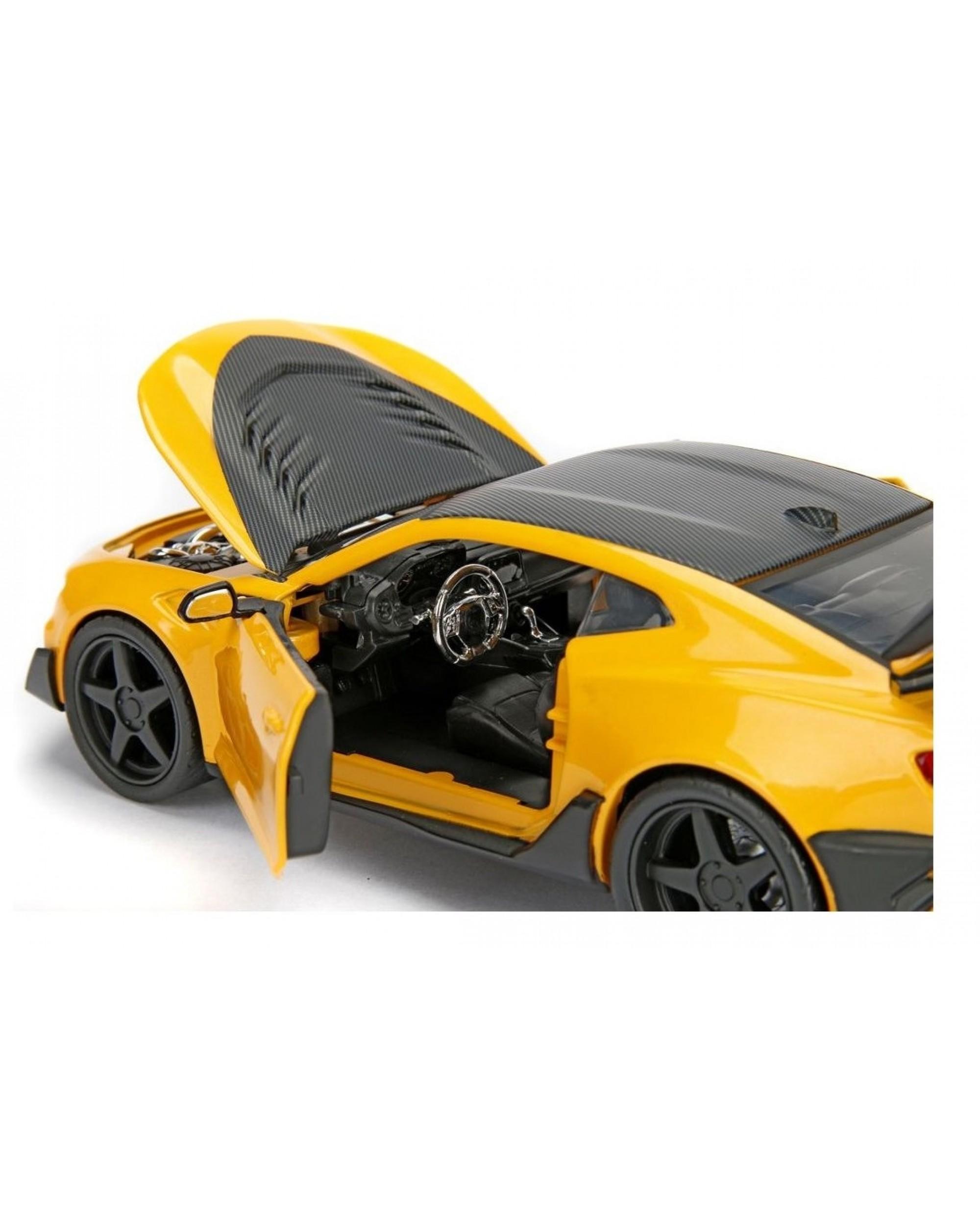 Masinuta - Chevrolet Camaro Bumblebee Yellow   Jada Toys - 3