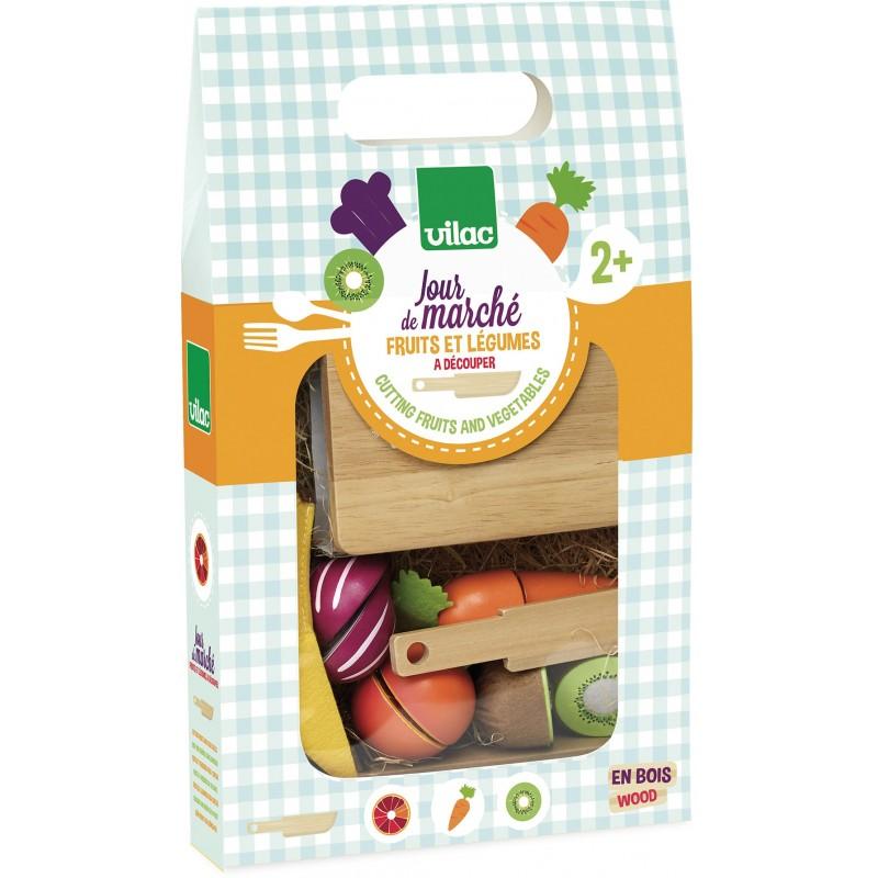 Joc - Fructe si legume de taiat | Vilac
