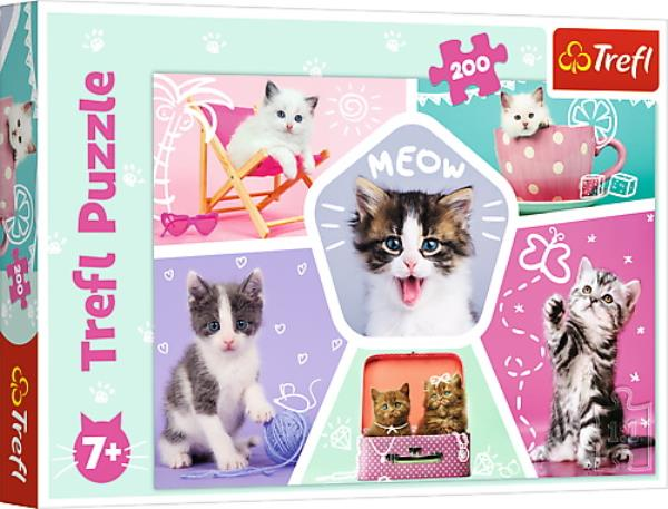 Puzzle 200 piese - Cats | Trefl