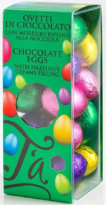 Oua din ciocolata in staniol multicolor - cutie mica