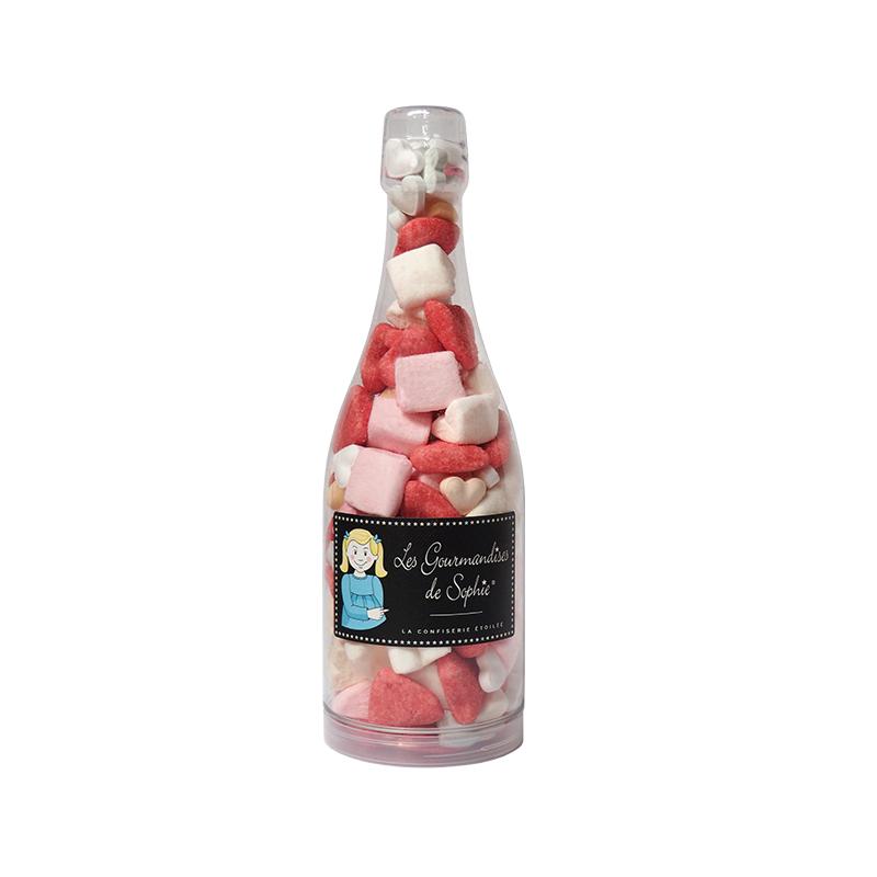 Sticla cu bezele in forma de inima - bouteille sweet love