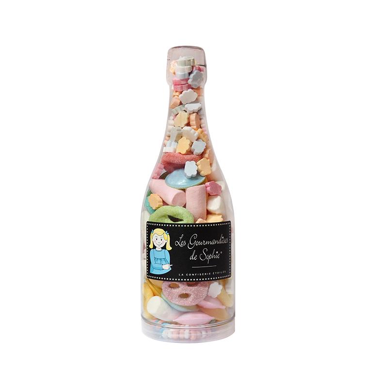 Sticla cu bomboane asortiment / cocktail mega fetes