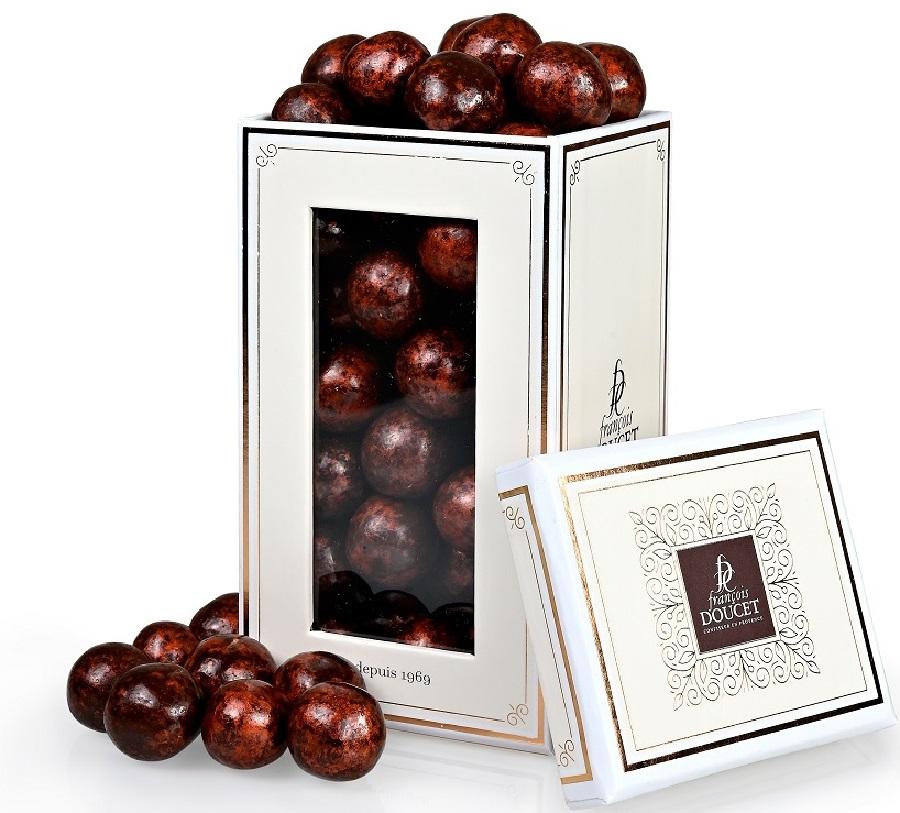 Perle din cereale trase in ciocolata