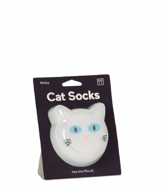 Sosete - Cat Socks - White