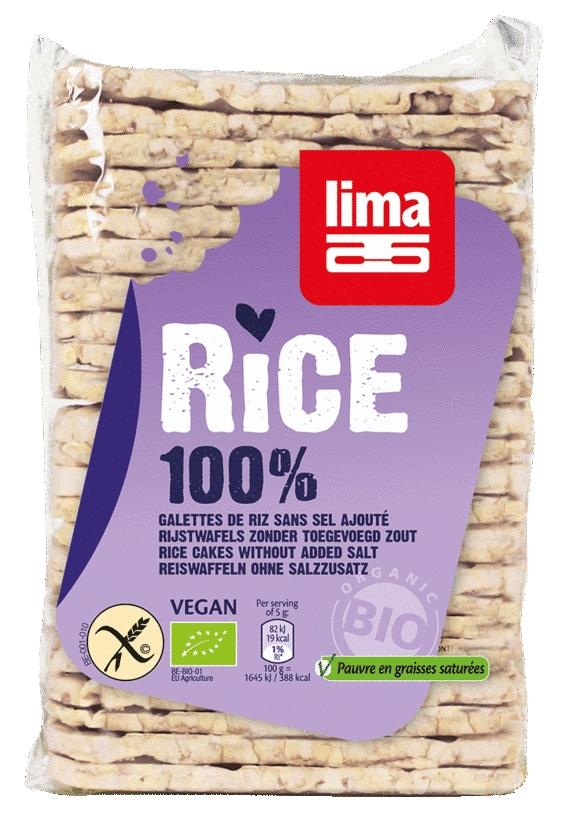 Rondele de orez expandat fara sare, BIO, 130g