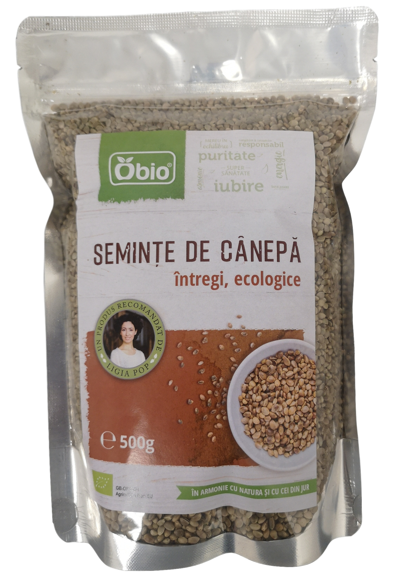 Seminte de canepa intregi raw - Bio