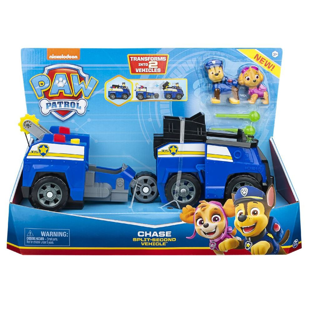 Jucarie - PAW Patrol Chase Split Second Vehicle | Paw Patrol
