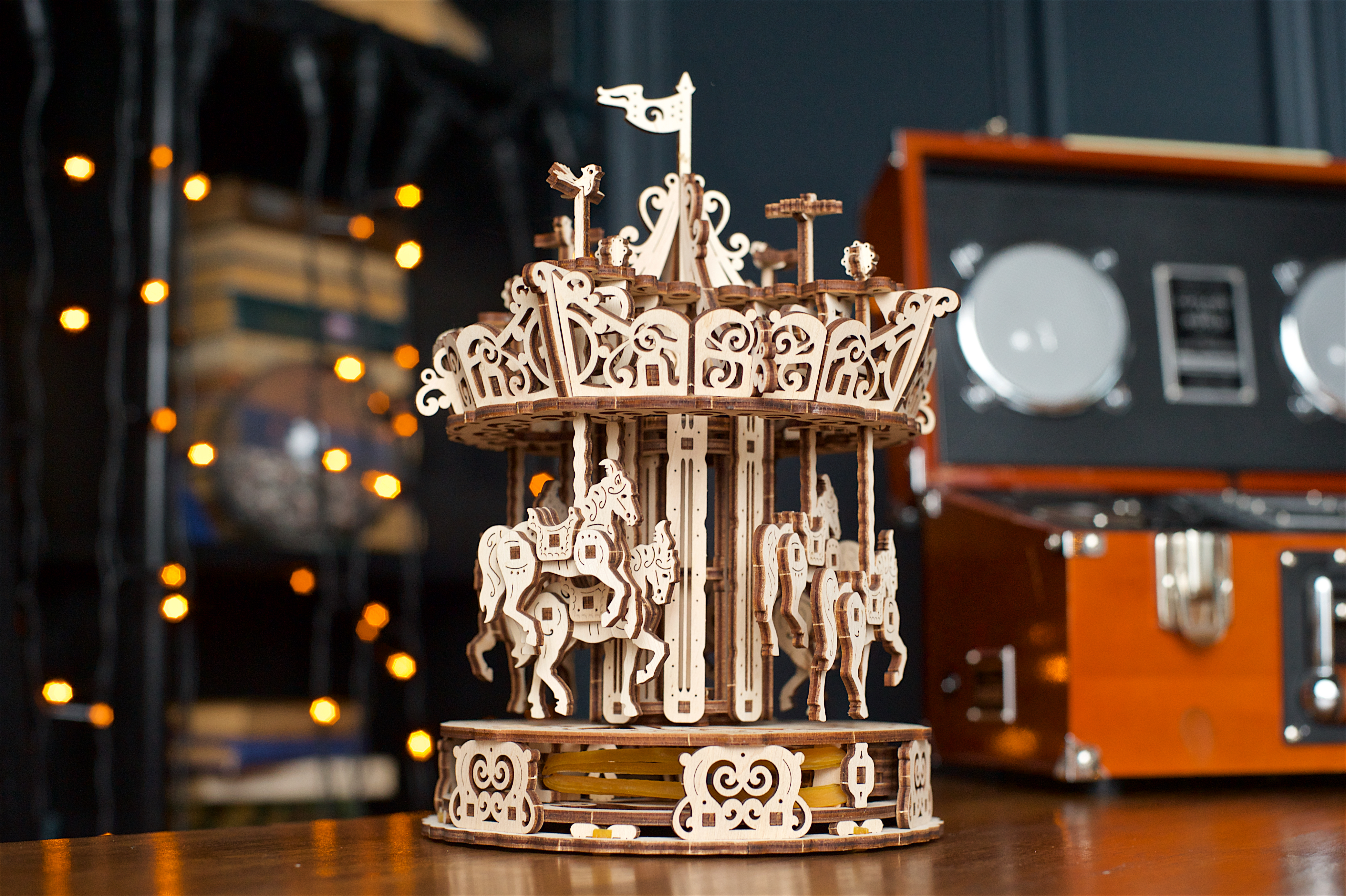 Puzzle 3D - Carusel / Carousel | Ugears