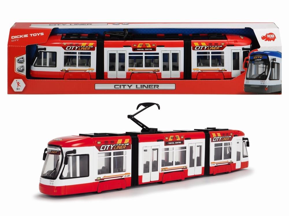Jucarie - Tramvai City Liner - Rosu | Dickie Toys - 1