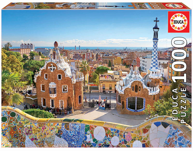 Puzzle 1000 piese - Barcelona View from Park Guell | Educa